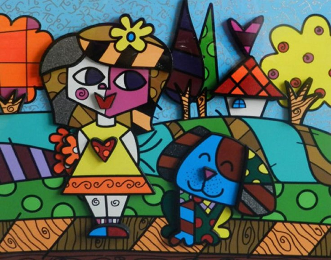 Fall 3-D 2008 by Romero Britto