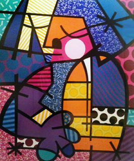 Jennifer 47x53 by Romero Britto