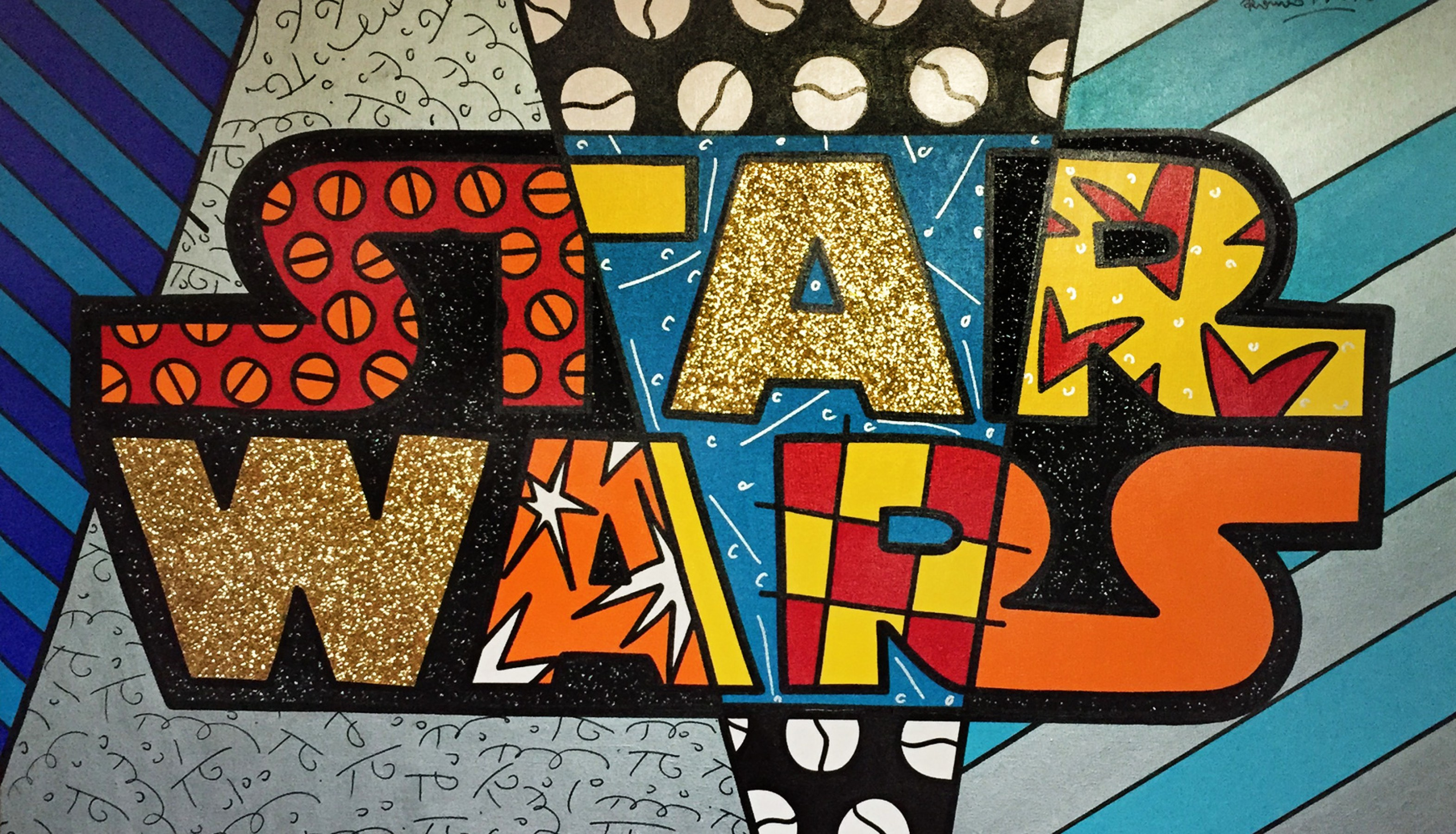Star Wars 2011 44x68 by Romero Britto