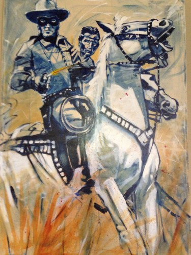 Swift Justice Lone Ranger and Tonto 48x72
