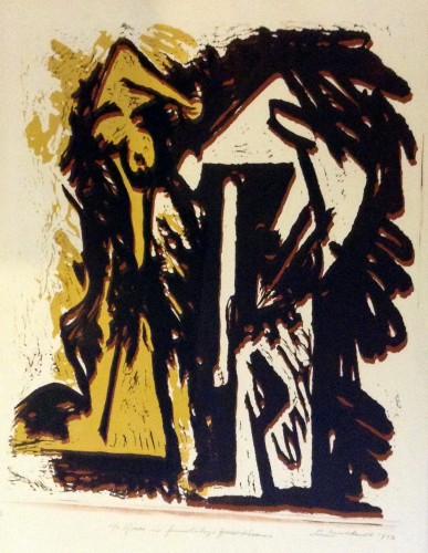 Fallen Figures Monotype 1973