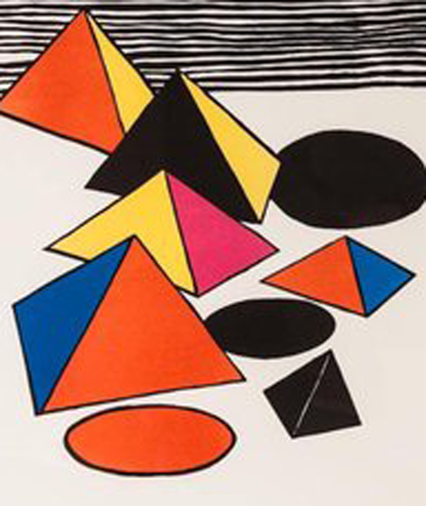 Homage to the Pyramids 1975 by Alexander Calder