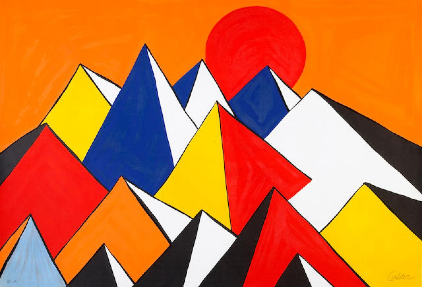 Homage to the Sun 1975 by Alexander Calder