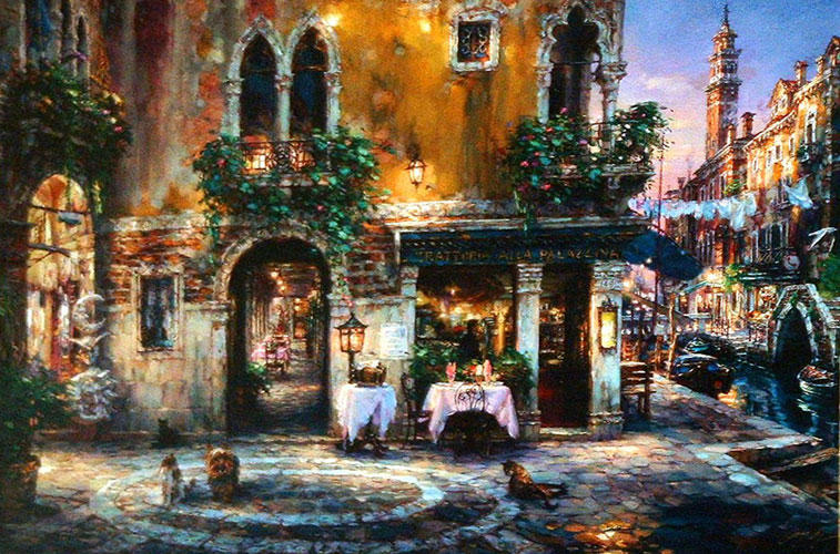 Evening in Venice 1991 Embellished