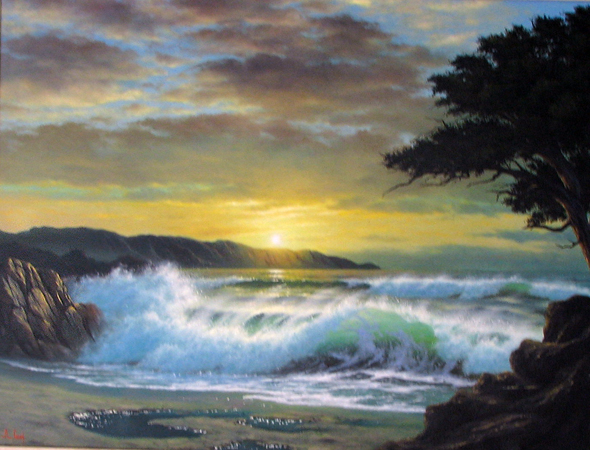 Sunset Beach 1976 36x48