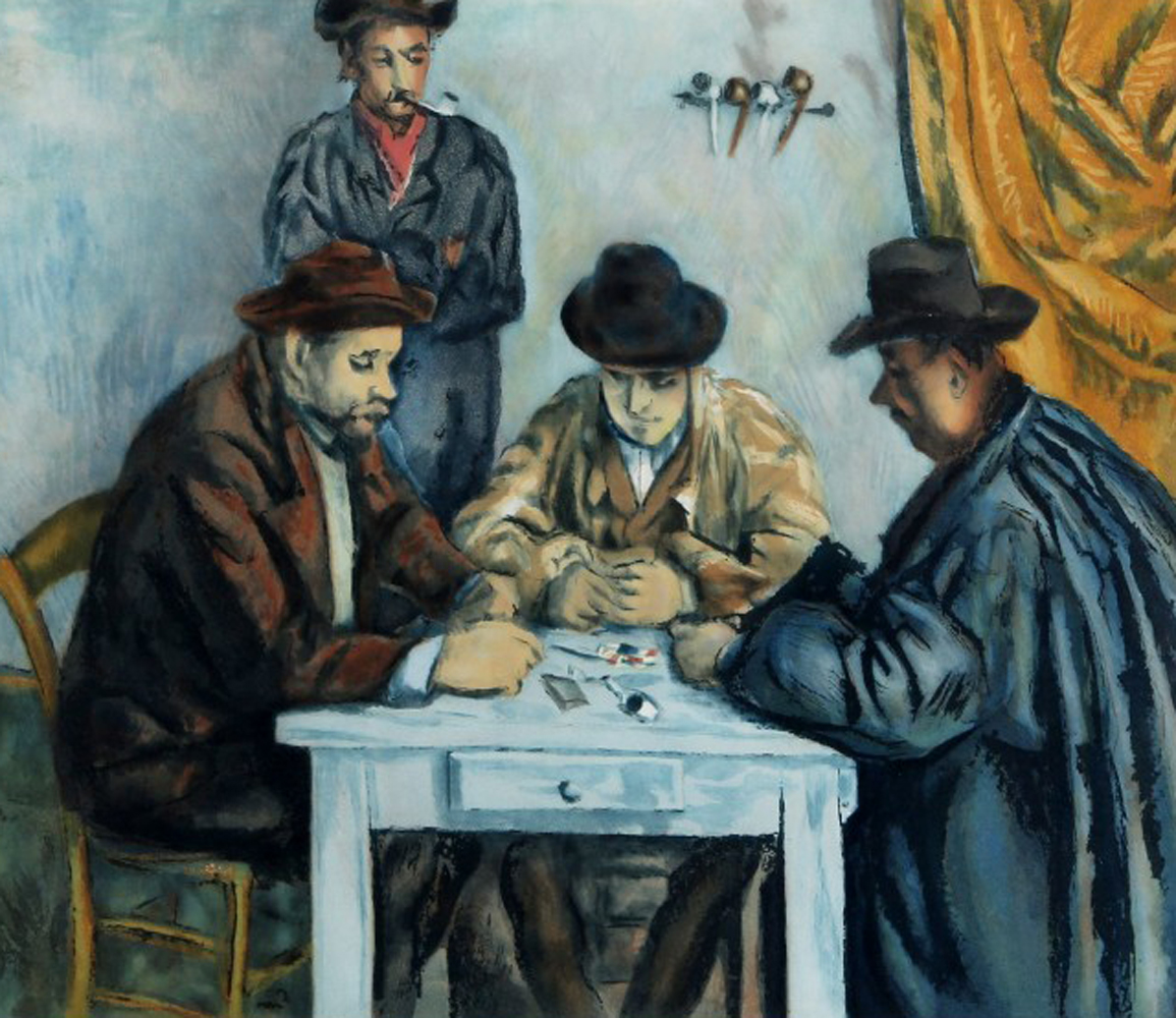 After: by Jacques Villion, Les Joueurs Des Cartes (After: Cezannes The Card Players) 1929