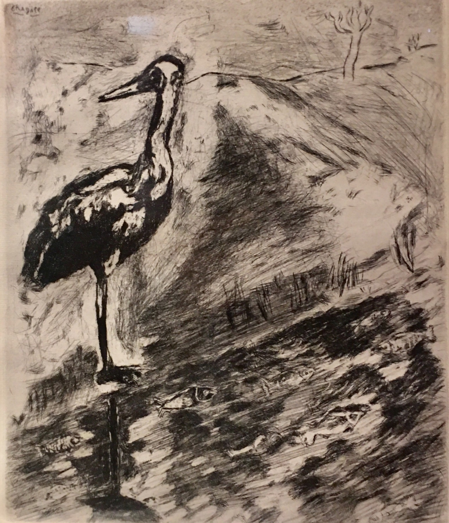 Le Heron From Jean De La Fontaine from Fables of Fontaine 1952