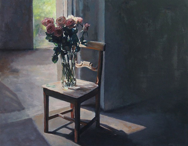 Roses on a Chair 1993 48x60