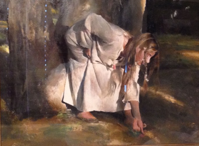 Ophelia Picking Flowers 1996 31x38
