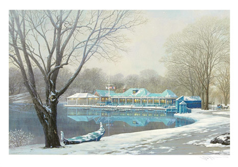 Central Park Boathouse Winter (New York)