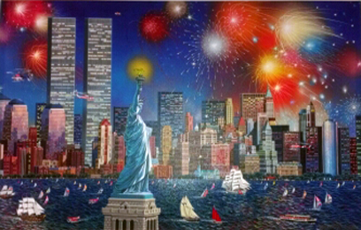 Manhattan Celebration, New York 2006 Embellished