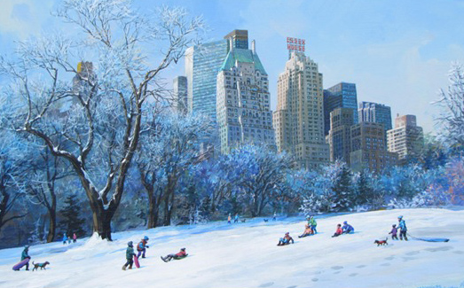 Central Park Winter Fun 2011 20x26