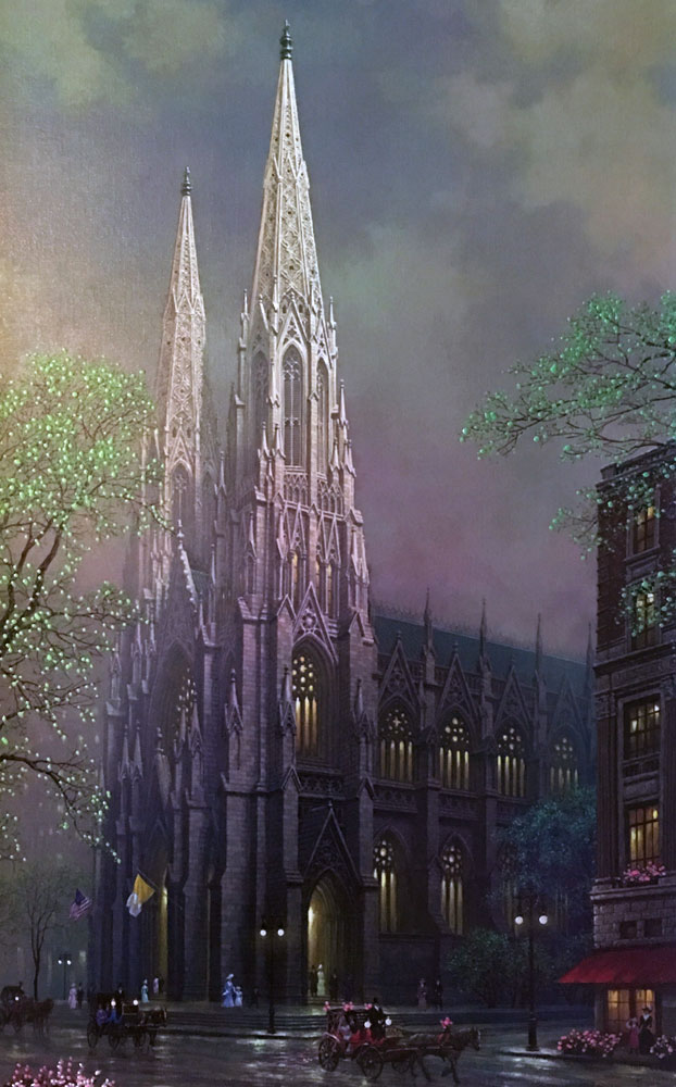 St. Patrick's Spring, New York  2005 Embellished