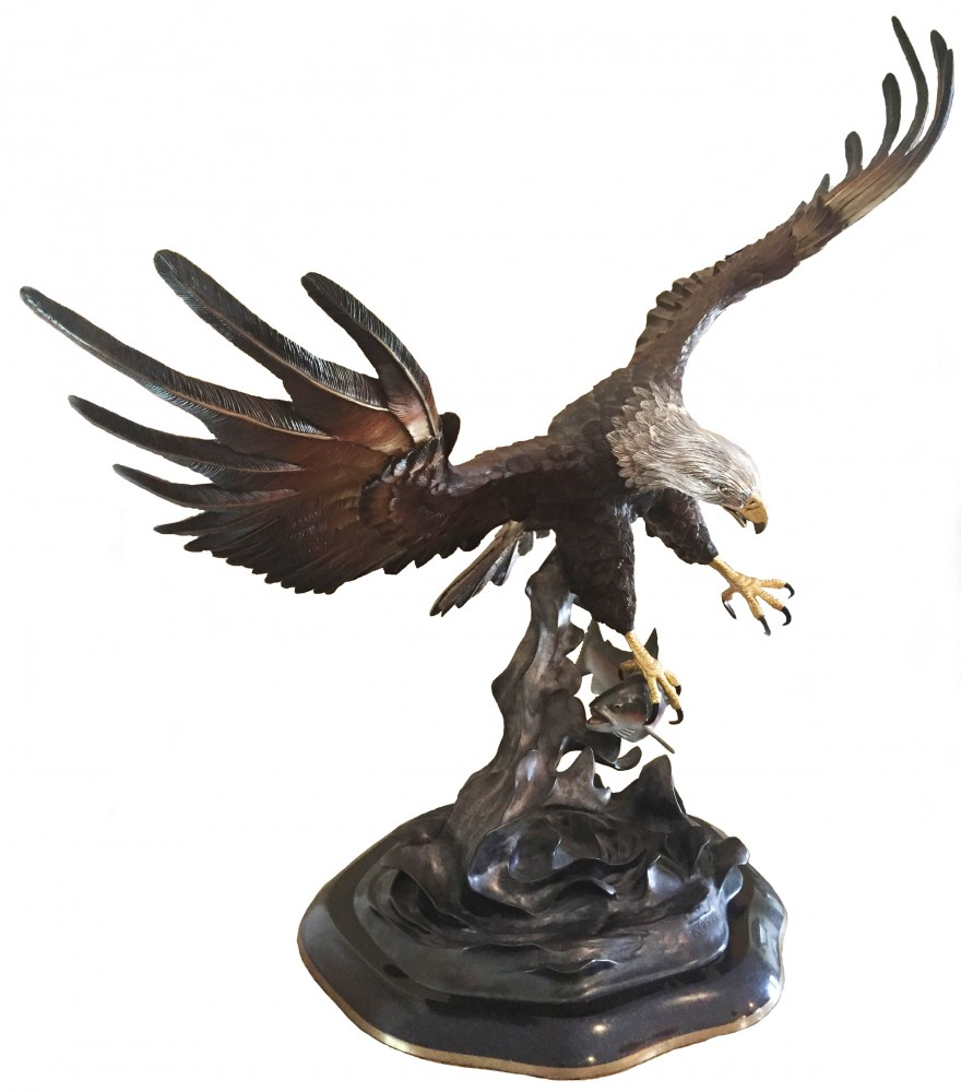 Fly Fishing Bronze Sculpture 1999 51 in