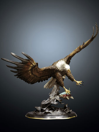 Fly Fishing Bronze Sculpture