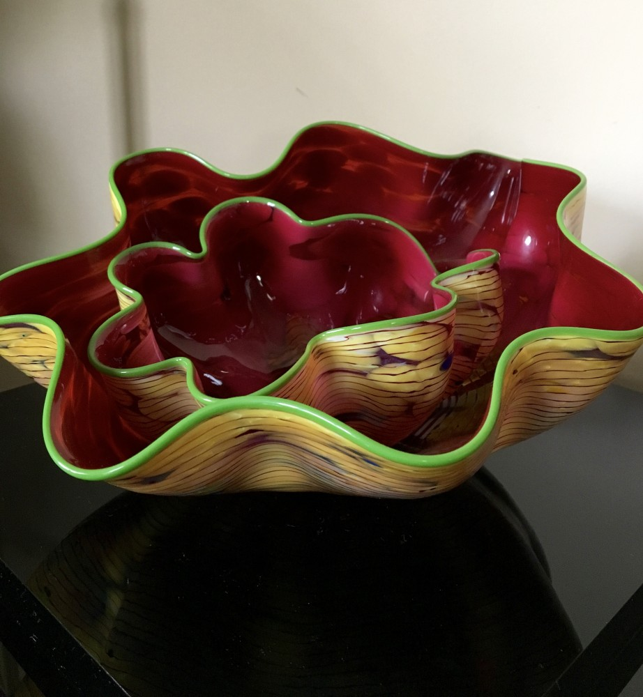 Moroccan Macchia   Glass Sculpture 2003 9 in