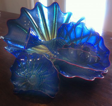 Untitled Glass Sculpture, Cobalt Persian Set of 6 Pieces 1999