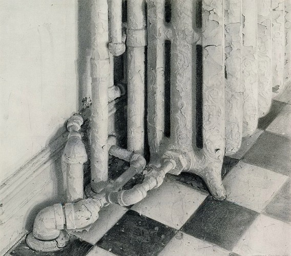 Kitchen Radiator Drawing 1997 26x27