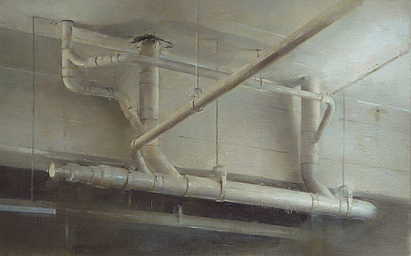 Ceiling Pipes 2012 14x23 by Christopher Gallego