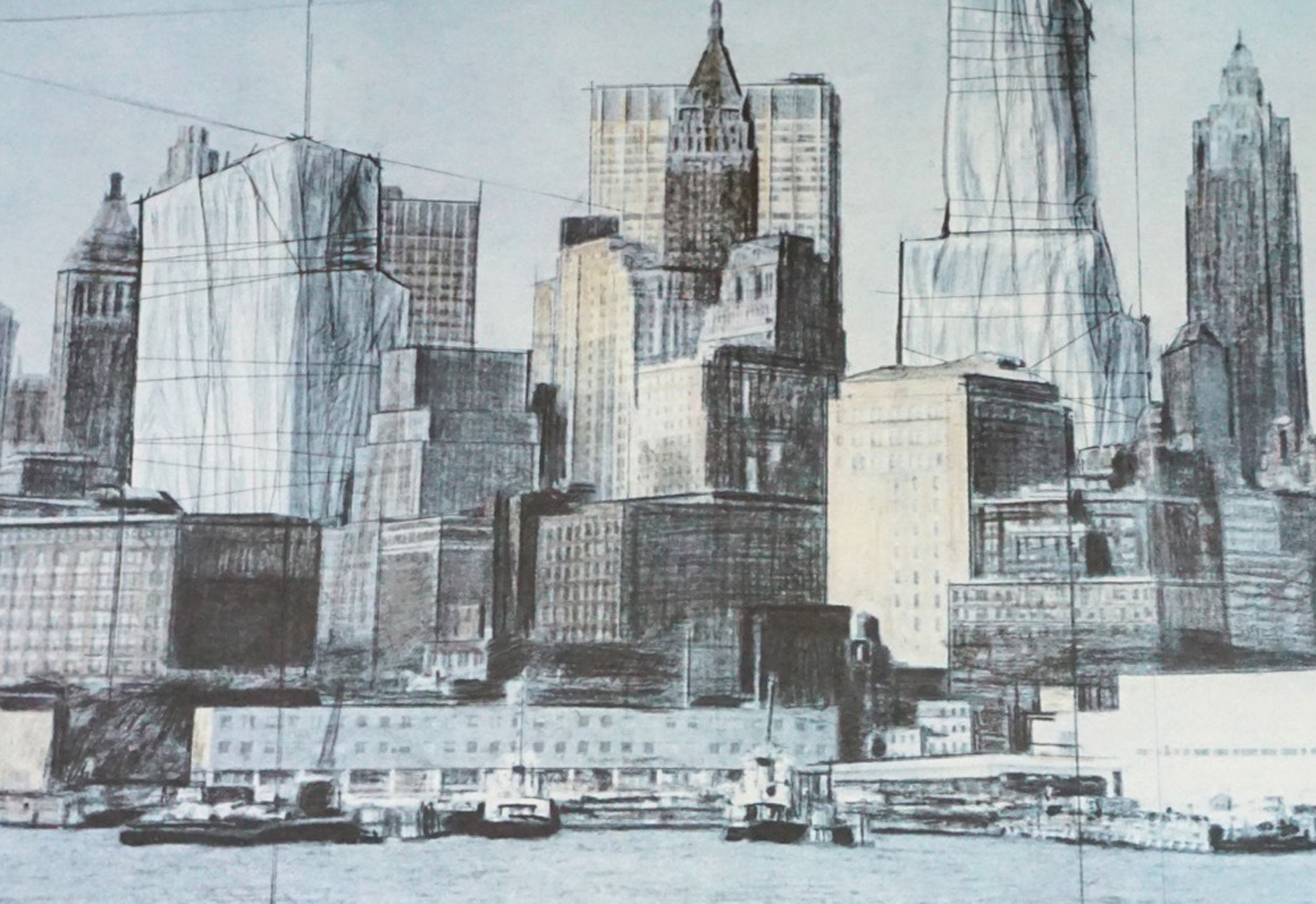 Two Lower Manhattan Wrapped Buildings  1990