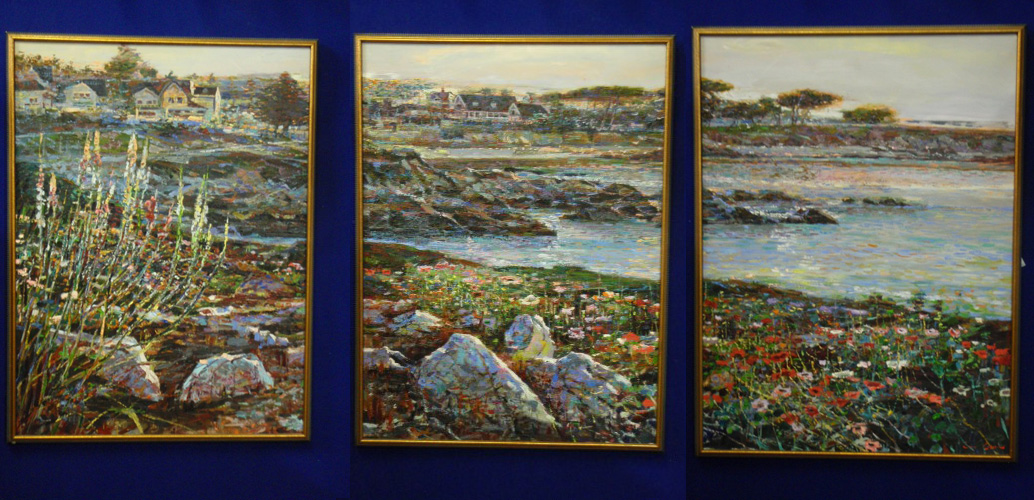 Lovers Point, Monterey Ca  Triptych 1996