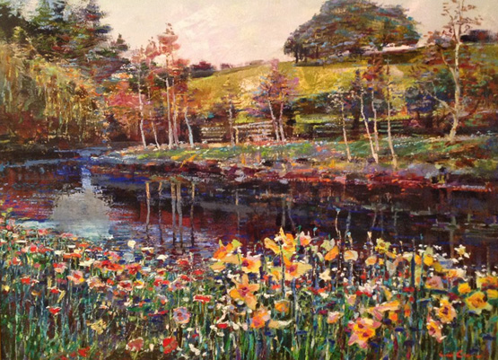 Floral Stream 35x45