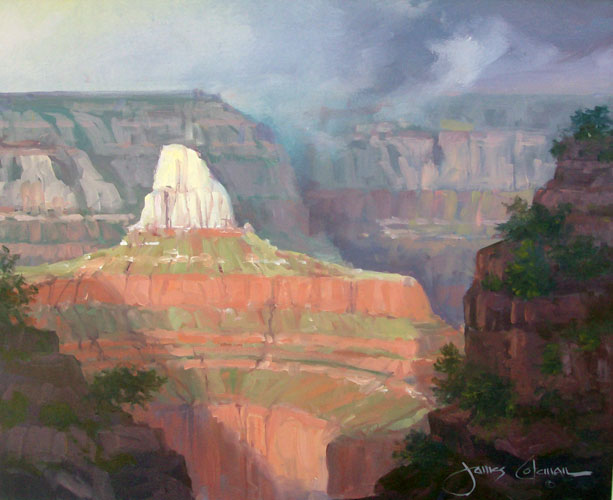 Zoroester Temple, Grand Canyon,  1993 20x24 Utah