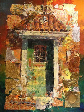 Green Door 43x33 by James Coleman