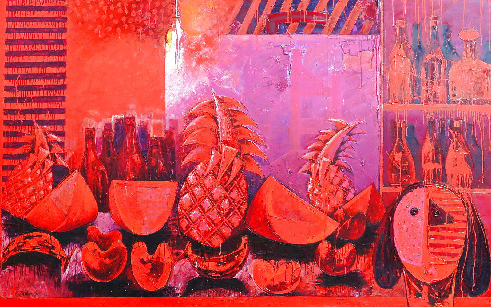 Bodegon With Fruit 2000 62x59