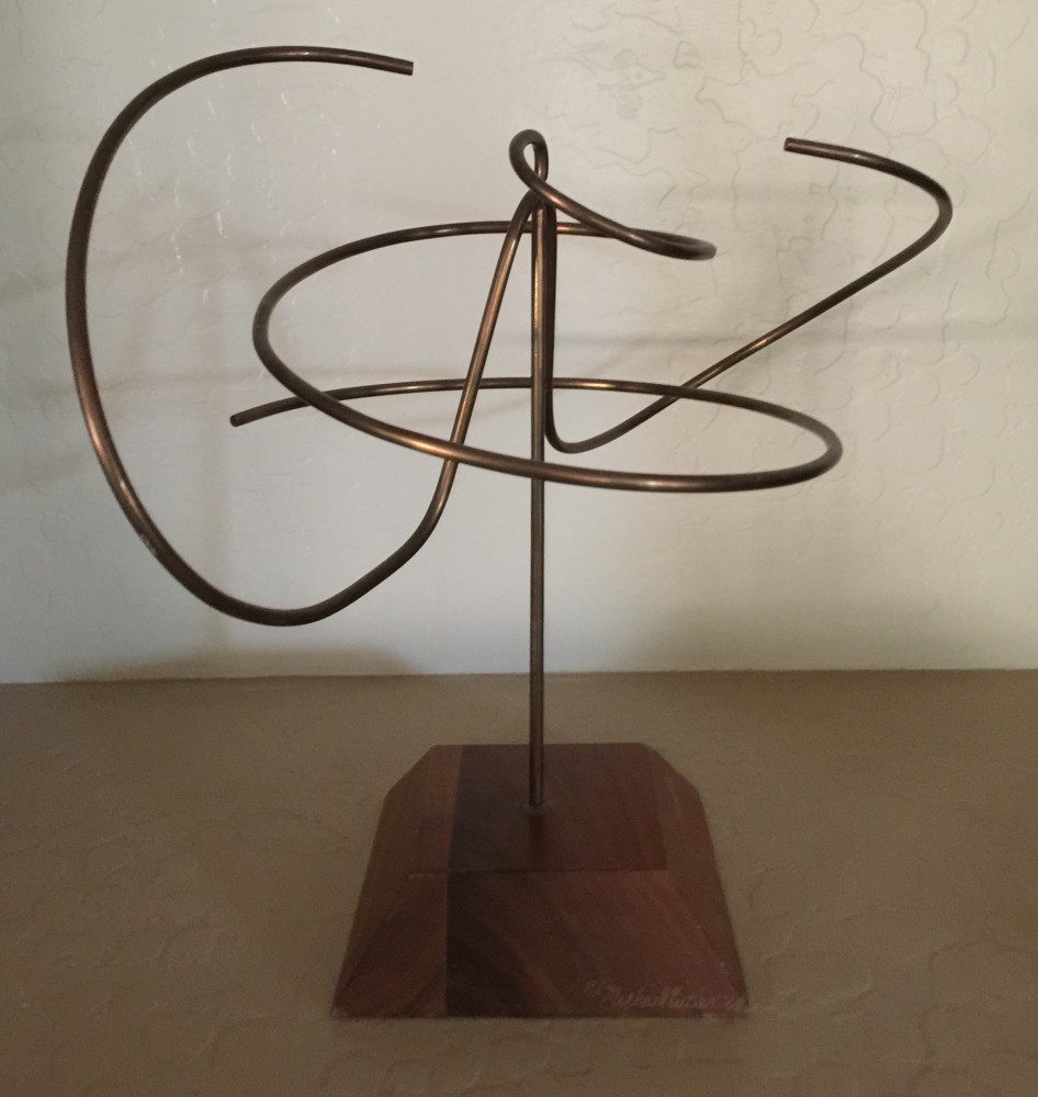 Copper Kinetic Sculpture 1976 11 in