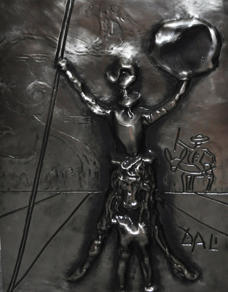 Don Quixote Dali  Platinum   Sculpture 27in