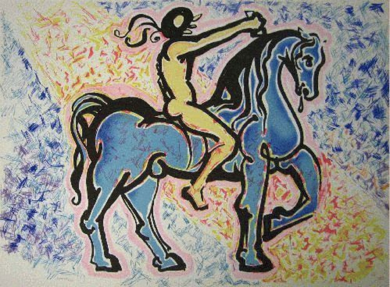 Le Cavalier, (Victory of Primitive Man) 1974
