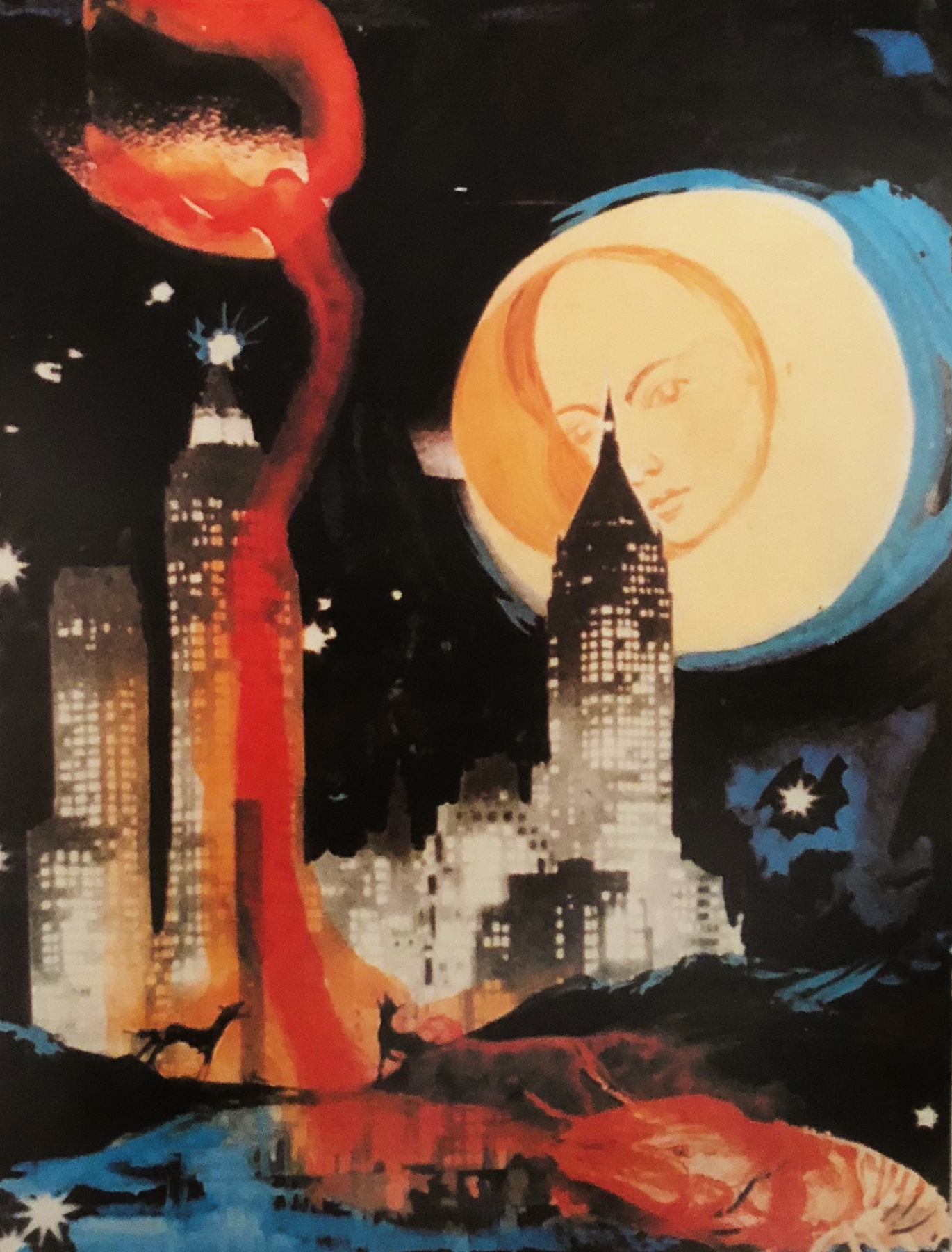 Manhattan Skyline  1972 by Salvador Dali