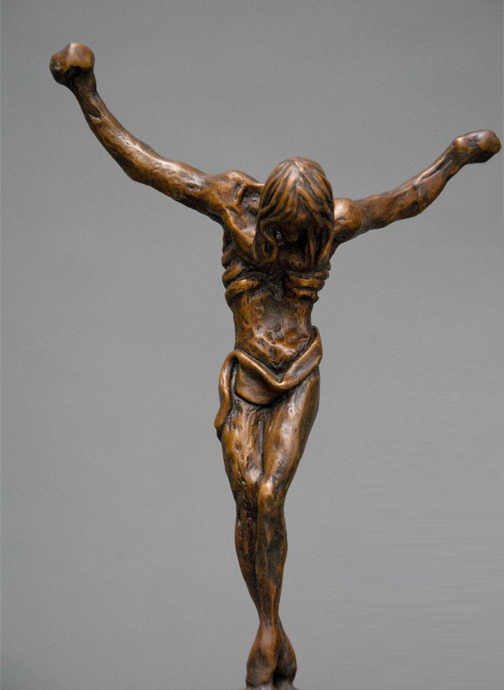 Christ of St. John of the Cross Bronze Sculpture 1981 14 in
