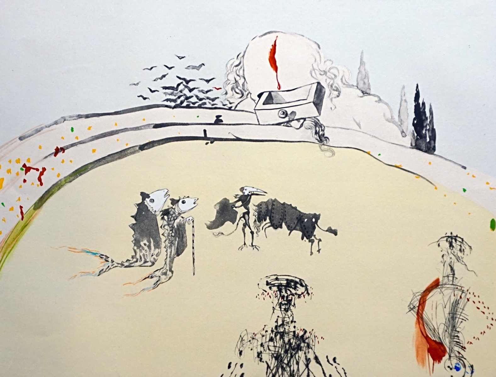Tauramachi Surrealiste Bullfight With Drawer 1970