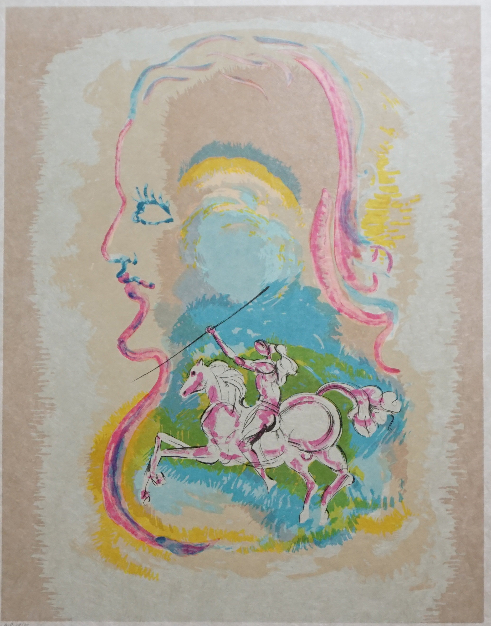 Dream of a Horseman AP 1979 by Salvador Dali
