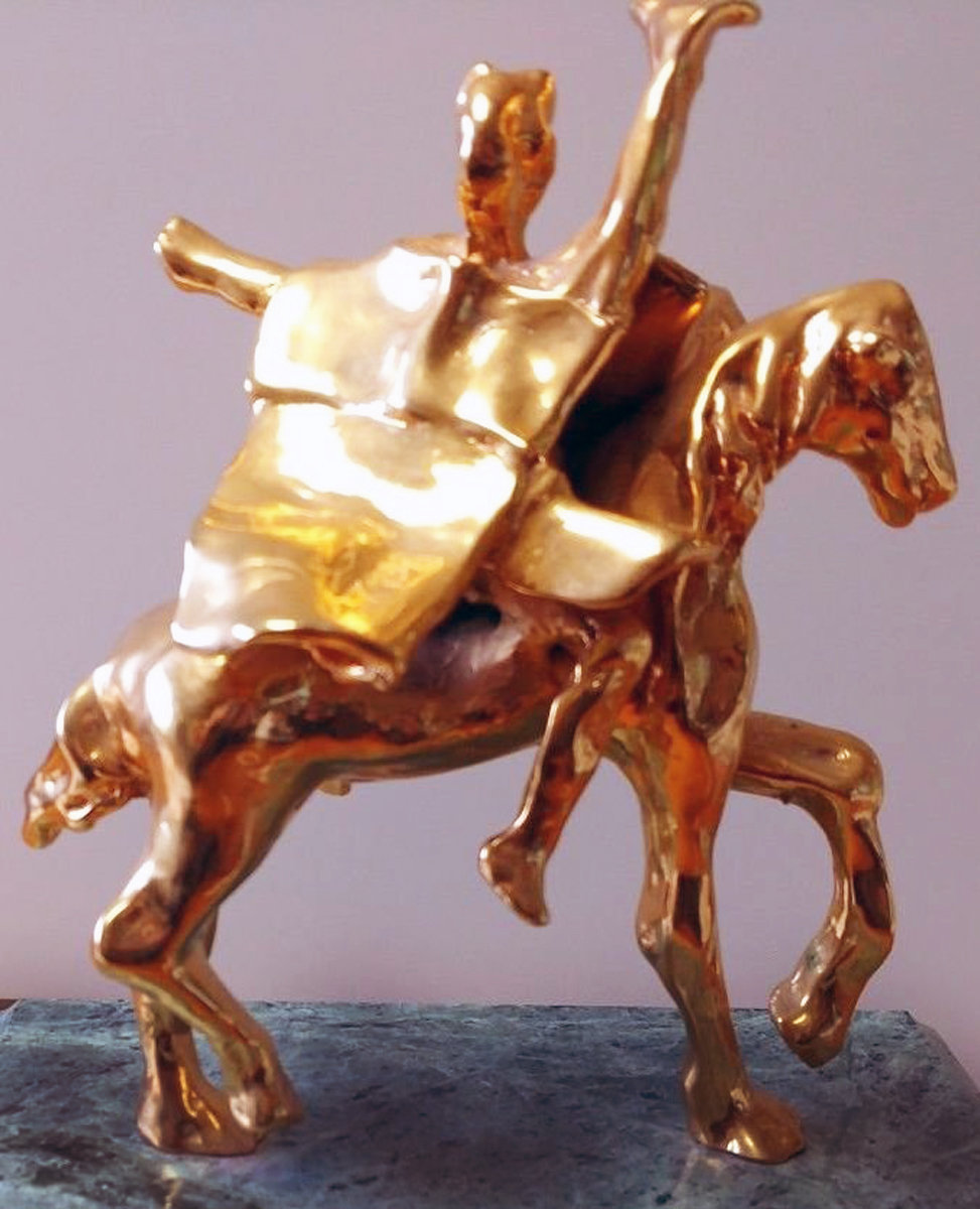 Trajan on Horseback Sculpture 1974 8 in by Salvador Dali