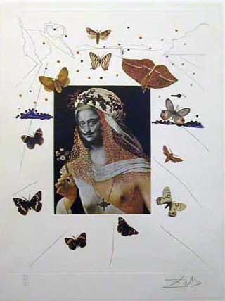 Memories of Surrealism Surrealist Portrait of Dali 1971 Early)