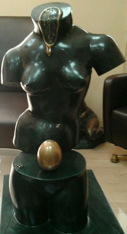 Space Venus Bronze Sculpture 1977 25 in