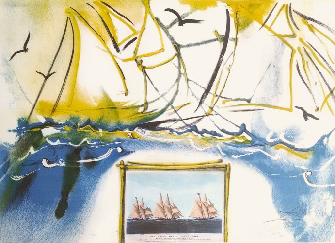 American Yacht Racing 1971 by Salvador Dali