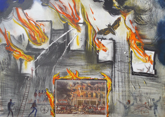 Fire Fire Fire From Currier and Ives 1971 by Salvador Dali