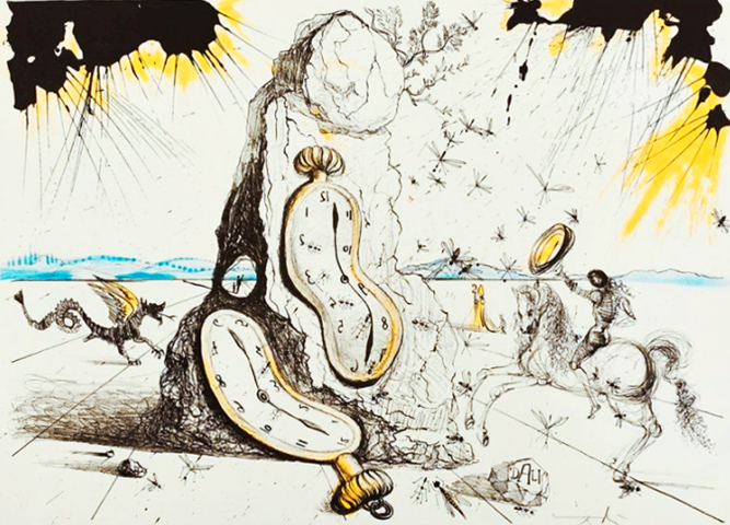 Cosmic Rays Resuscitating the Soft Watches, 1965 by Salvador Dali