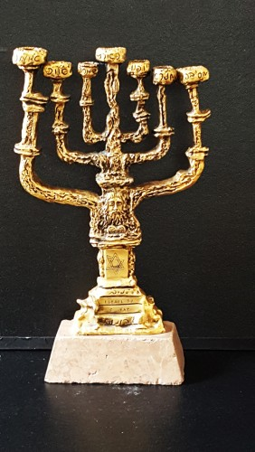 Menorah Bronze Sculpture 1980 by Salvador Dali