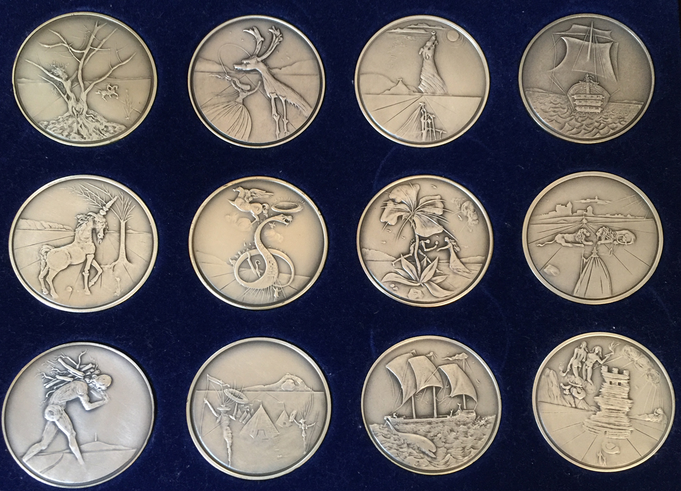 Twelve Tribes of Israel Silver Coins  1973