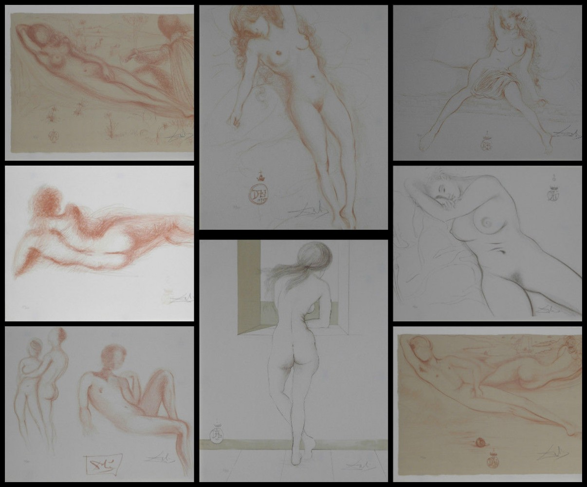 Nudes Complete Suite of 8 - 1970 (Early and Rare)