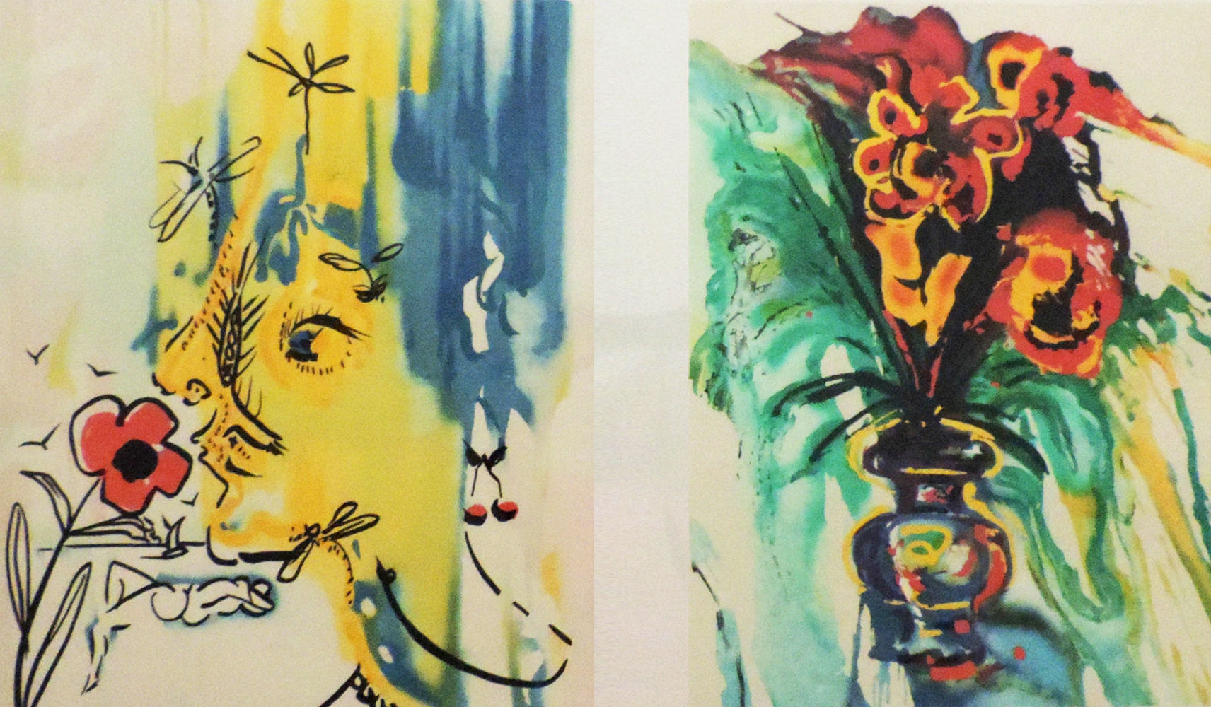 Fleurs Surrealistes of Gala's Bouquet And The Vanishing Face 1980