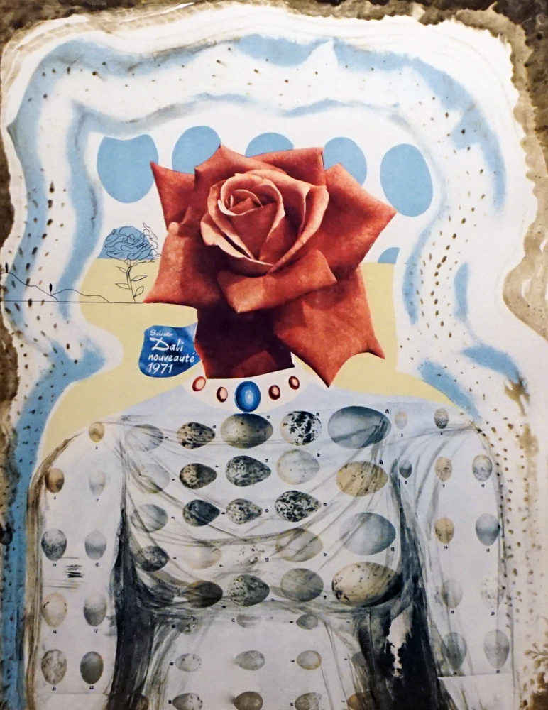 Memories of Surrealism Surrealist Flower Girl 1971 by Salvador Dali