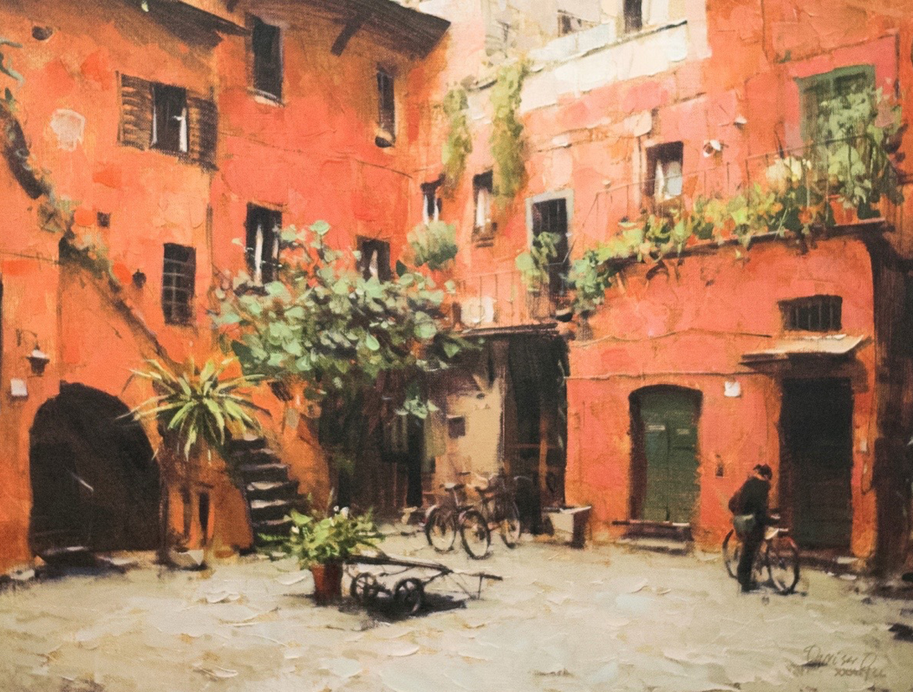 Rome Courtyard Embellished 2005