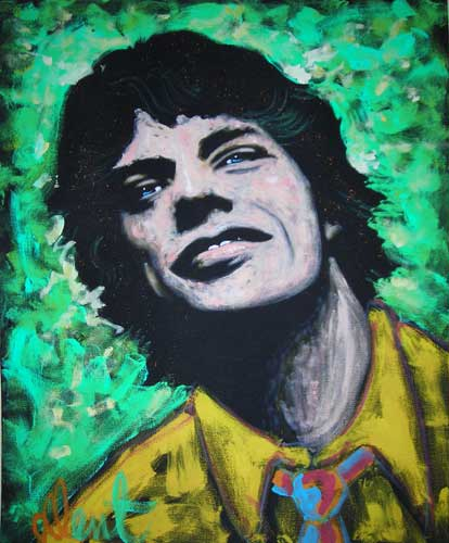 Mick Jagger (Rolling Stones) 1992 48x36