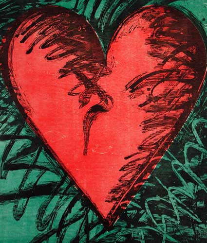 Rancho Woodcut Heart 1982